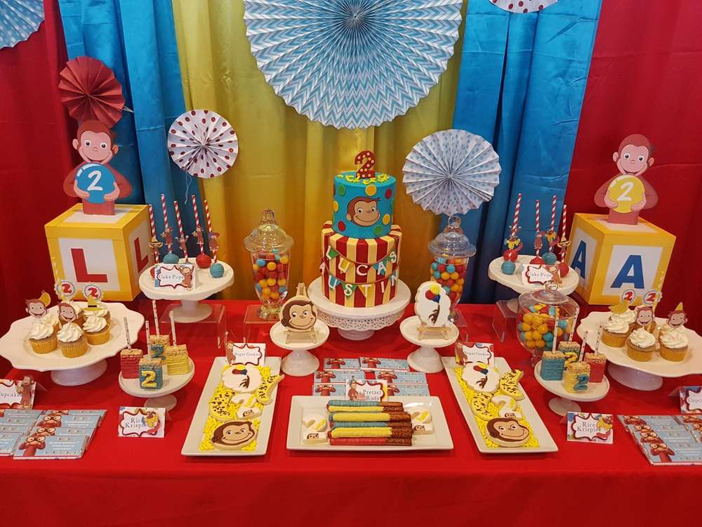 Curious George Birthday Party Ideas Photo 1 Of 16 Catch My Party
