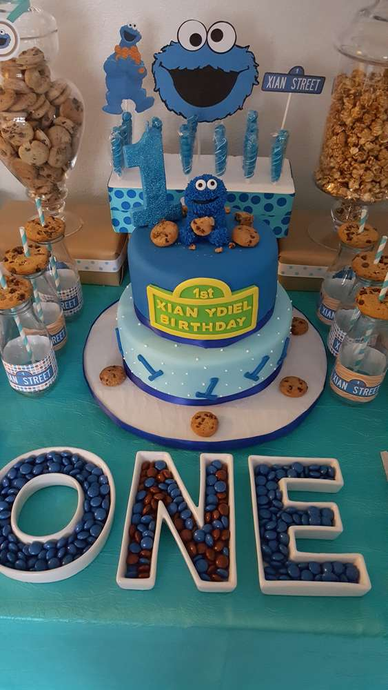 Cookie Monster Birthday Party Ideas Photo 8 Of 16 Catch My Party