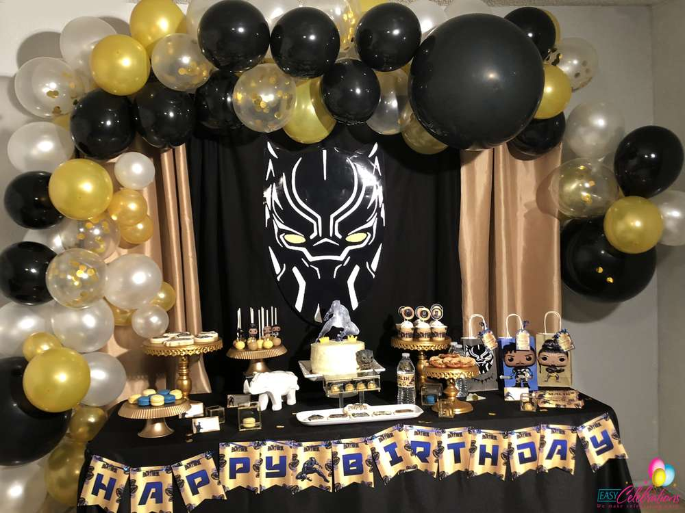 Black Panther Birthday Party Ideas Photo 1 Of 39 Catch My Party