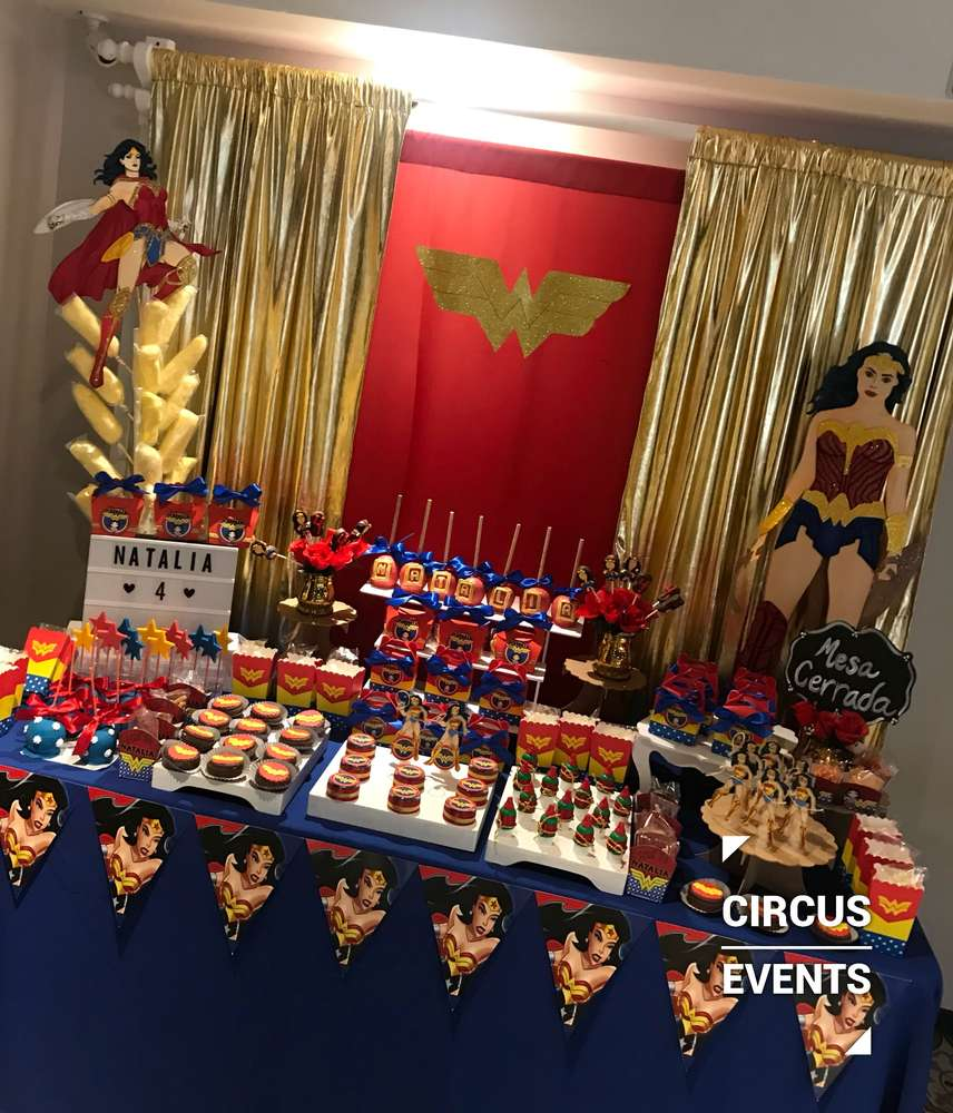 Wonder Woman Birthday Party Ideas Photo 1 Of 23 Catch My Party
