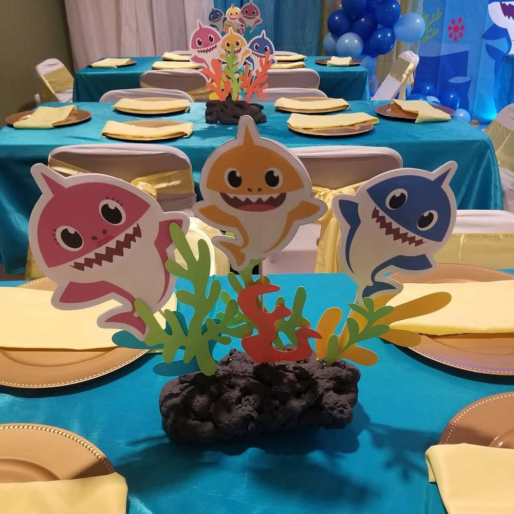 Baby Shark Birthday Party Ideas Photo 1 Of 19 Catch My Party