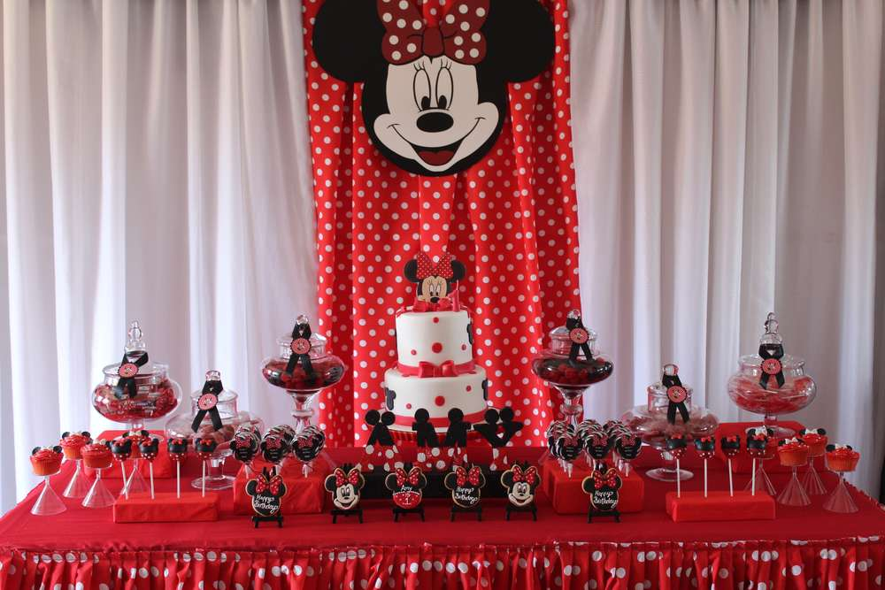 Minnie Mouse Birthday Party Ideas Photo 1 Of 22 Catch My Party