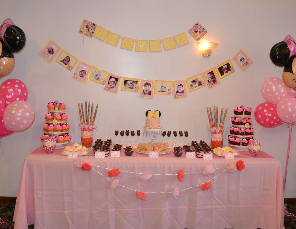 Minnie Mouse Birthday Minnie Mouse First Birthday Catch My Party