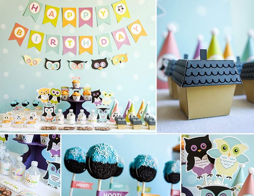 Owl Theme Birthday Hoot Owl Birthday Party Catch My Party