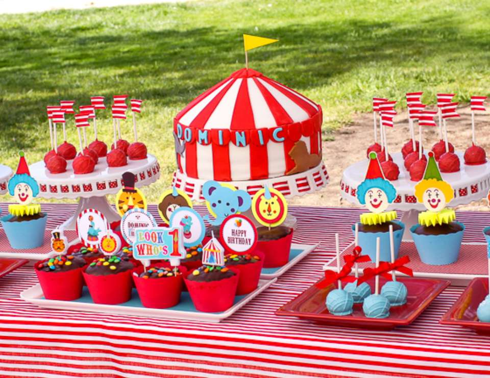 Carnival Circus Birthday Circus Themed 1st Birthday Catch My Party