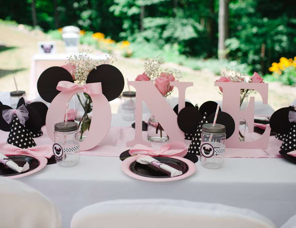 Birthday Minnie Mouse 1st Birthday Party Catch My Party