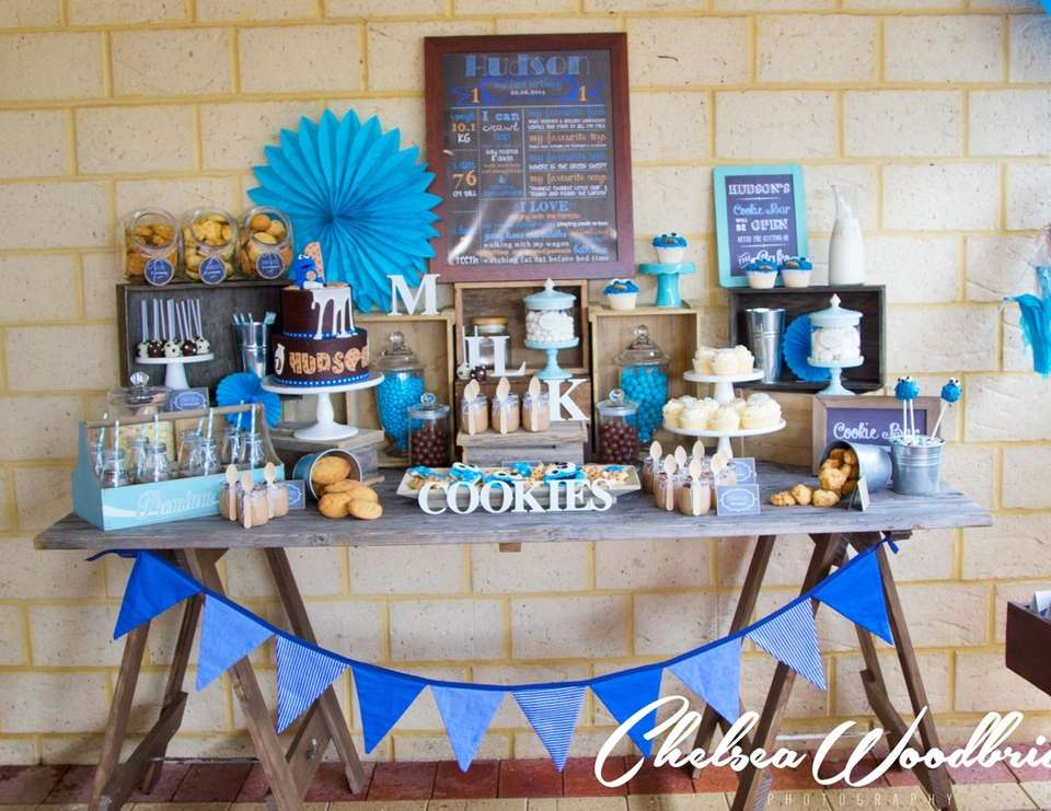 Milk And Cookies Birthday Hudson S Milk And Cookie Monster 1st Birthday Catch My Party