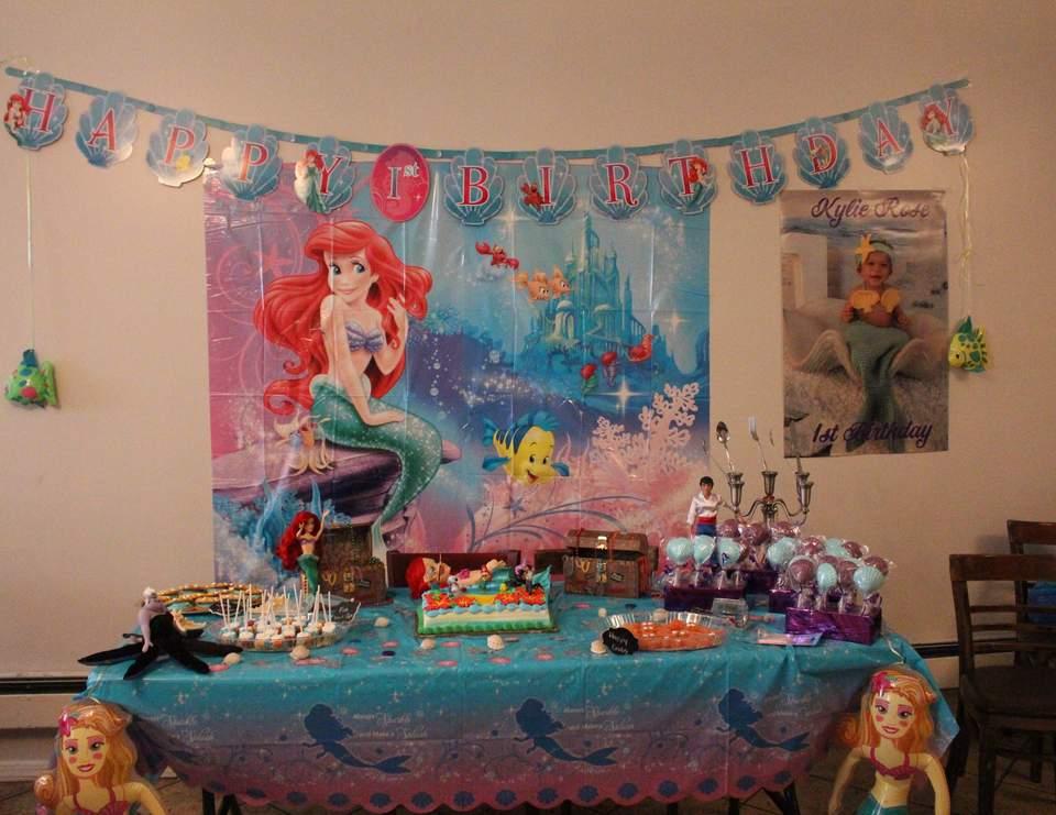 Little Mermaid Birthday Kylie Rose S Little Mermaid 1st Birthday Catch My Party