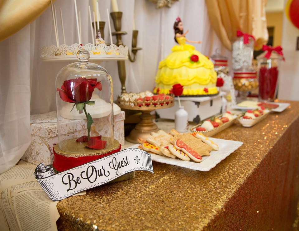 Belle Beauty And The Beast Birthday Belle Theme First Birthday Party Catch My Party