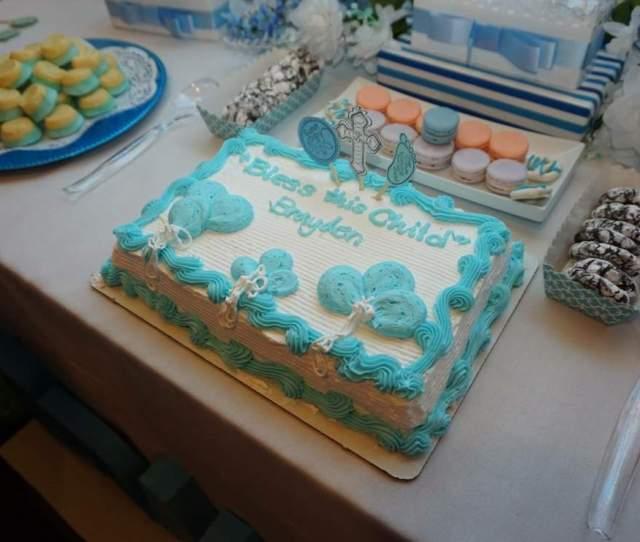 Braydens Christening Blue And White Theme