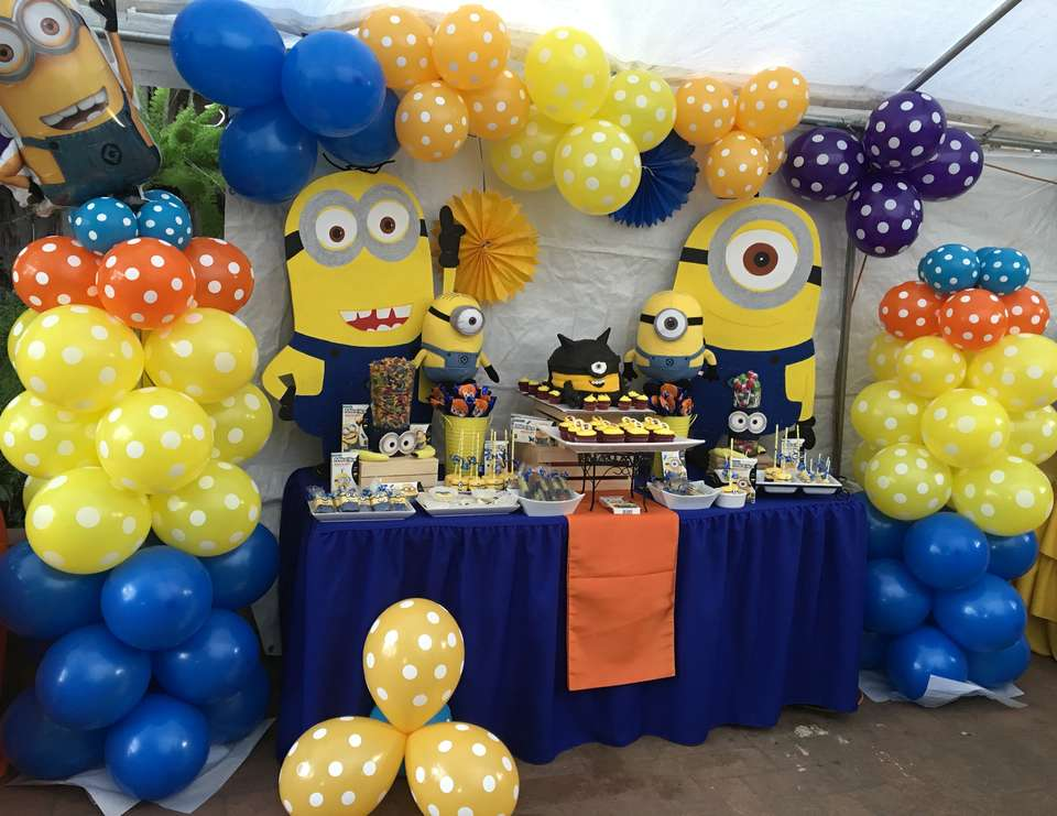 Minions Theme Birthday Jonathan S 1st Birthday Catch My Party