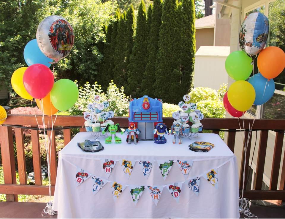 Transformers Birthday Rescue Bot Birthday Catch My Party