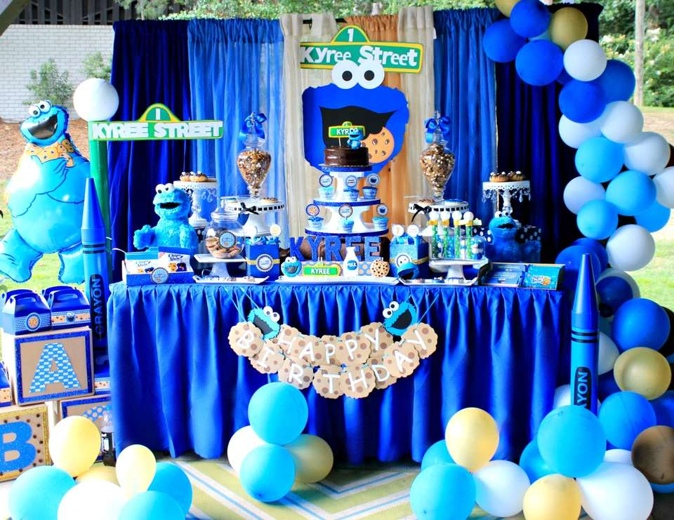Cookie Monster Sesame Street Birthday Kyrees Cookie Monster Bash Catch My Party