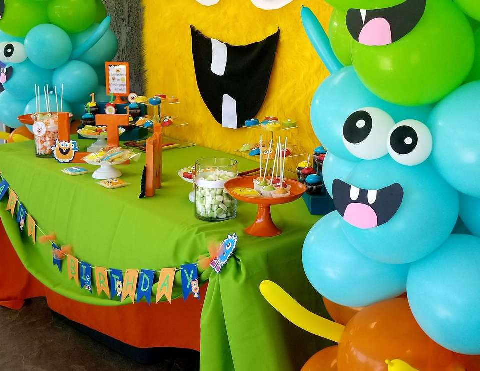 Monster Theme Party Birthday Liams 1st Birthday Monster Bash Catch My Party