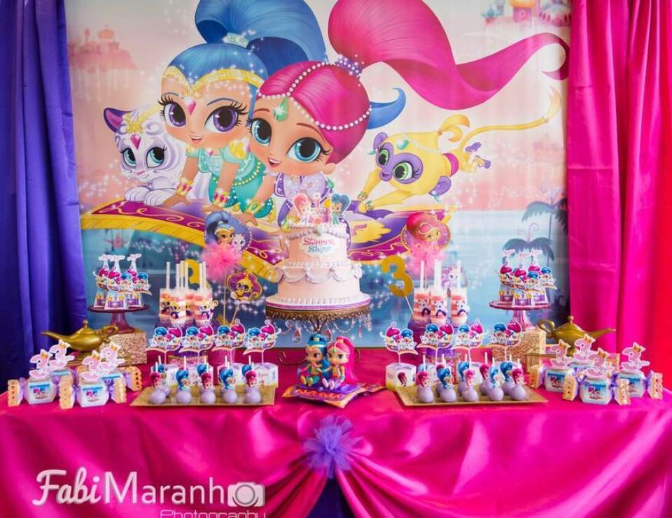 Shimmer And Shine Birthday Shimmer And Shine Birthday Party Catch My Party