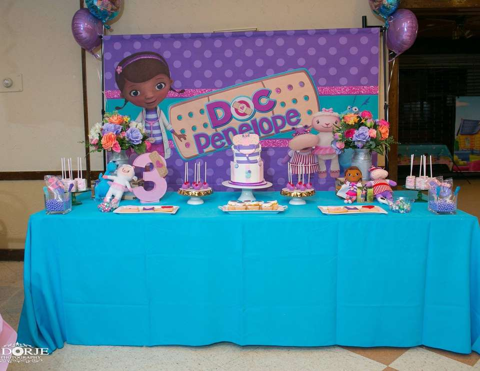 Doc Mcstuffins Birthday Doc Penelope S Third Birthday Party Catch My Party