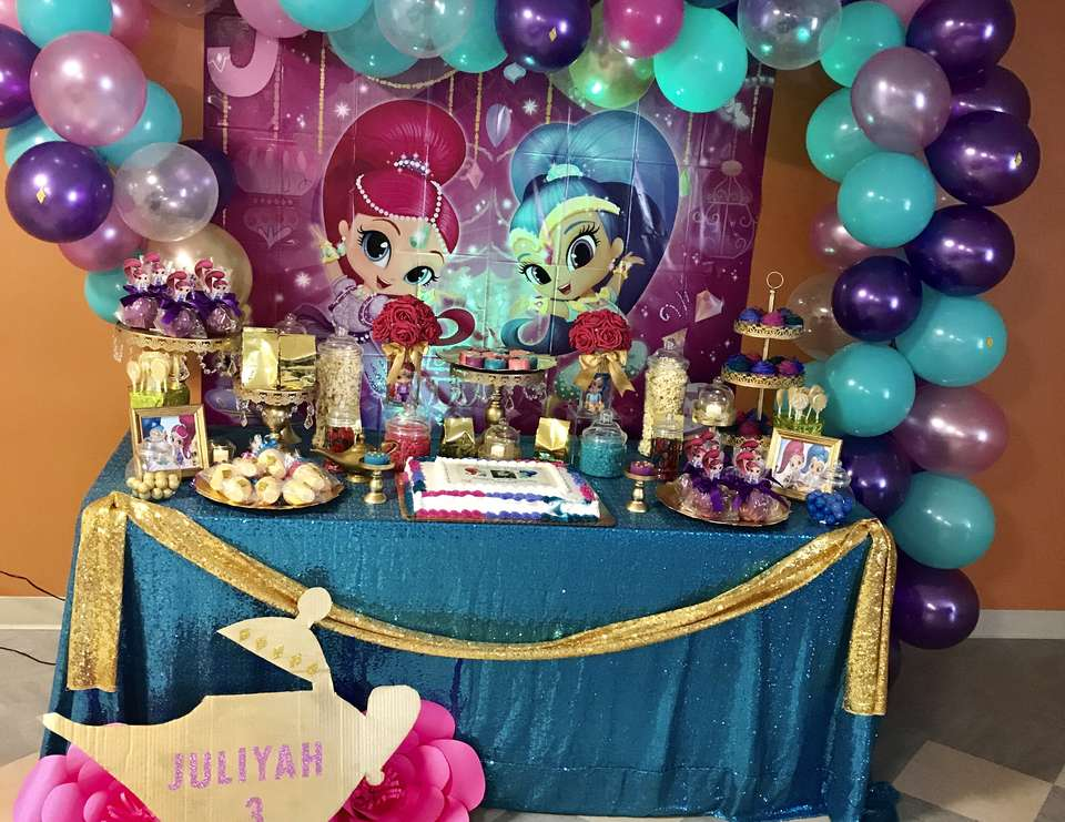Shimmer And Shine Birthday Shimmer Shine 3rd Birthday Party Catch My Party