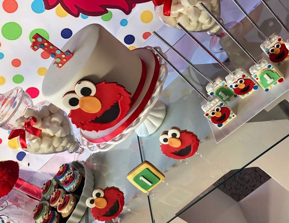 Elmo Birthday Ander Elmo 1st Birthday Party Catch My Party