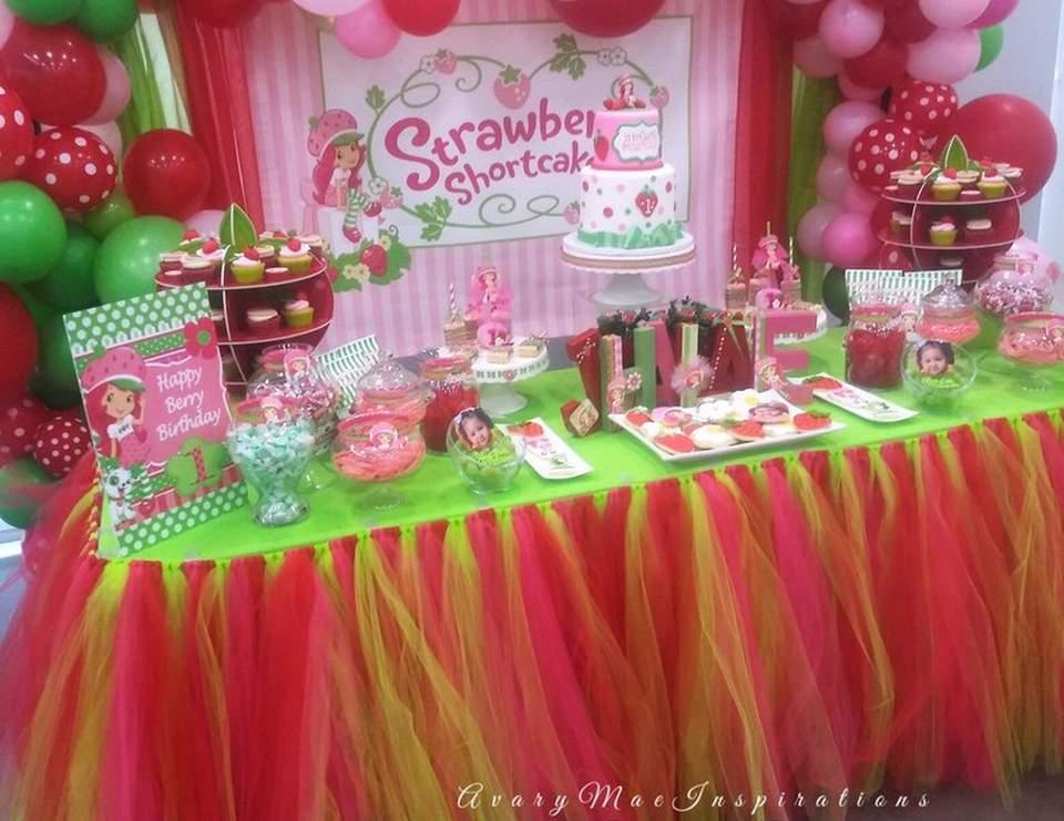 Strawberry Shortcake Birthday Strawberry Shortcake 1st Birthday Party Catch My Party