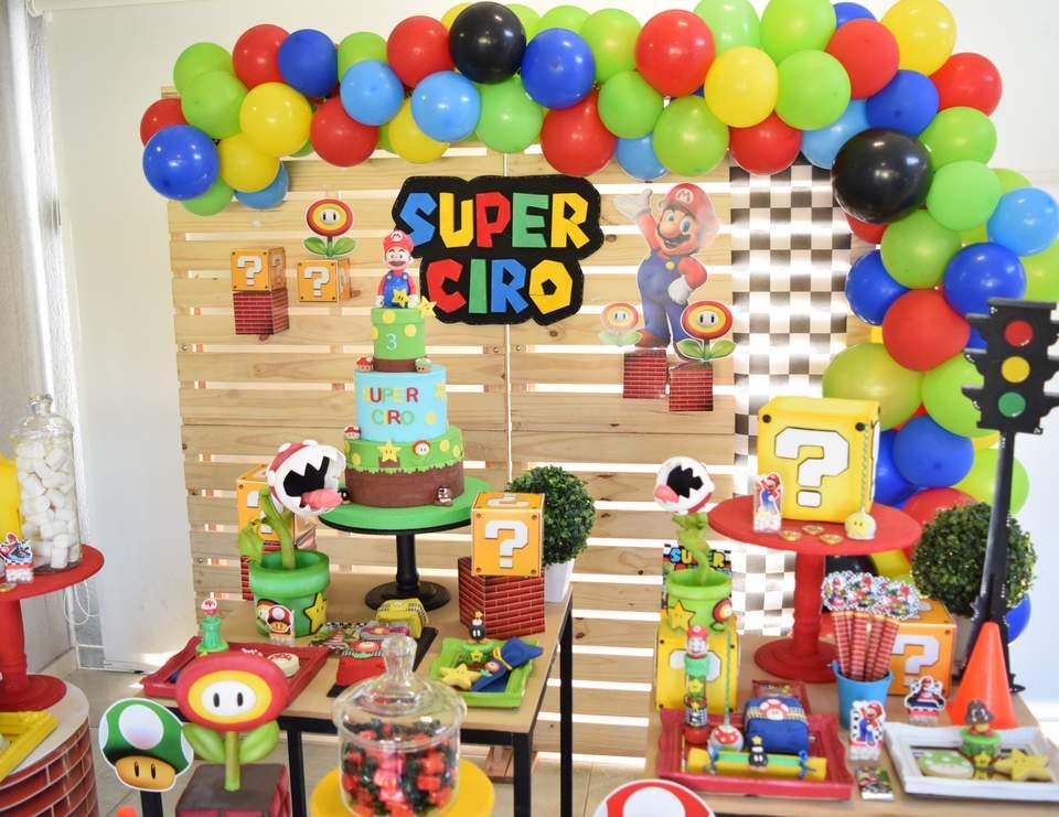 Mario Bros Birthday Ciro S Super Mario Birthday Party Catch My Party