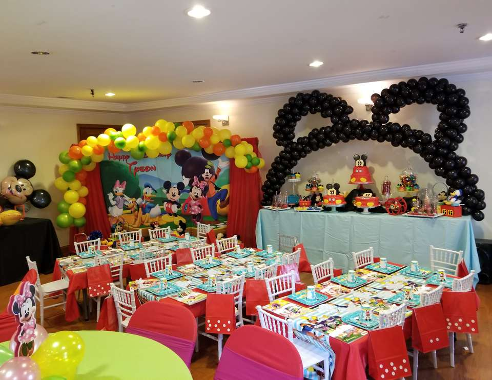 Mickey Mouse Birthday Tyson S Clubhouse Birthday Party Catch My Party