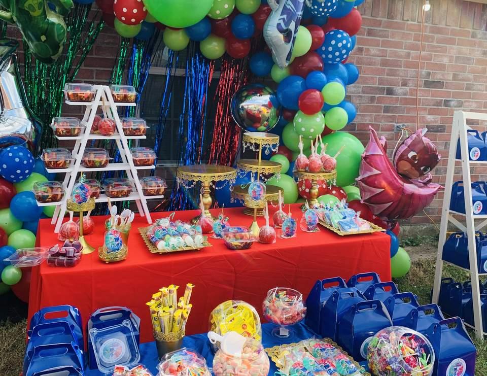 Pj Masks Birthday Netito S 4th Pj Mask Birthday Party Catch My Party