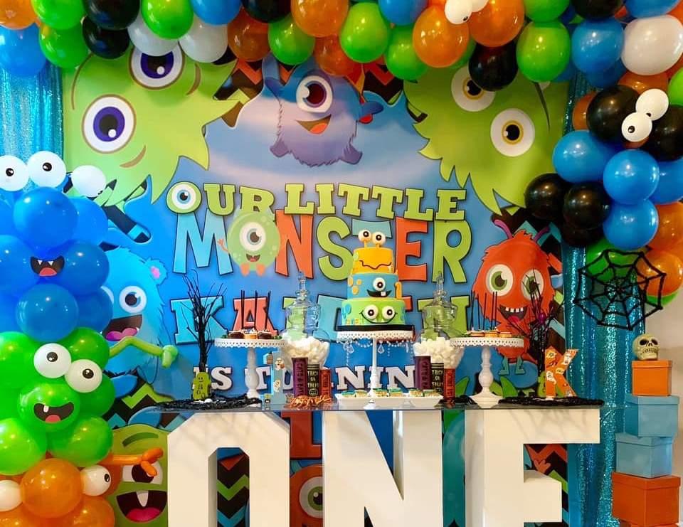 Little Monsters Party Birthday Kaiden S Little Monsters First Birthday Party Catch My Party
