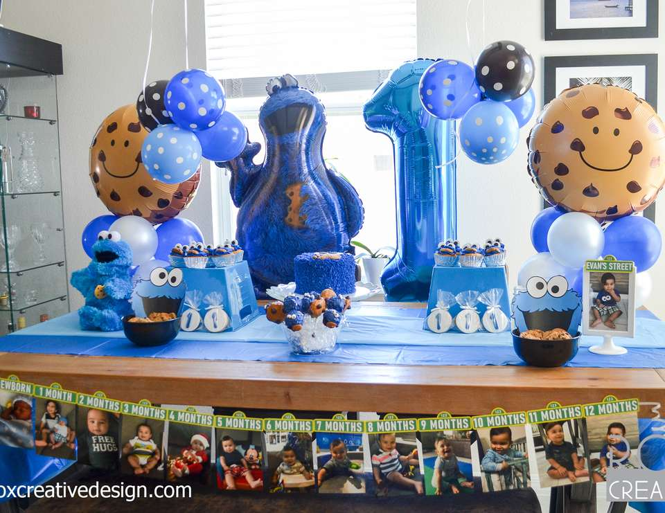 Cookie Monster Birthday Cookie Monster 1st Birthday Party Catch My Party