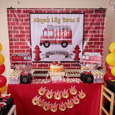 Fire Truck Firefighter Party Ideas For A Girl Birthday Catch My Party