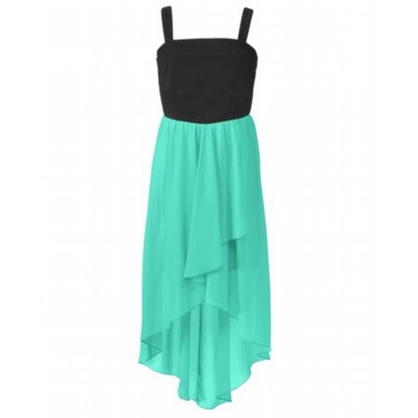 فساتين قصيرة من الامام وطويلة من الخلف موديل فستان جديد
