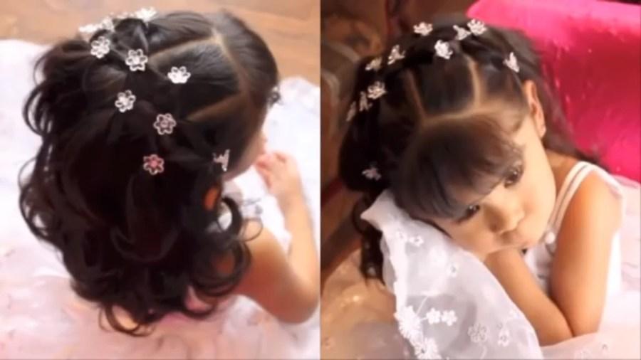 اجمل تسريحات الشعر للبنات الصغار للعرس للافراح احدث تسريحة