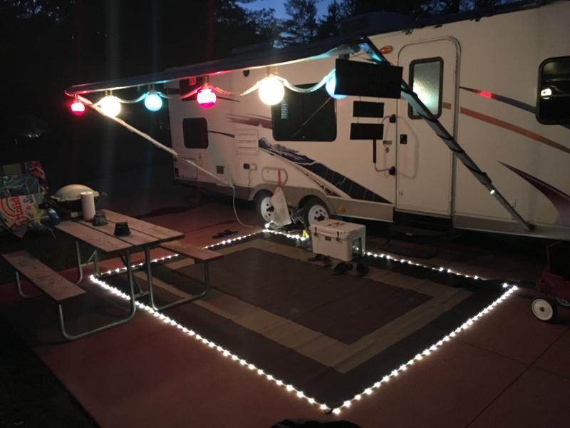 led illuminated patio mat 9 x 12