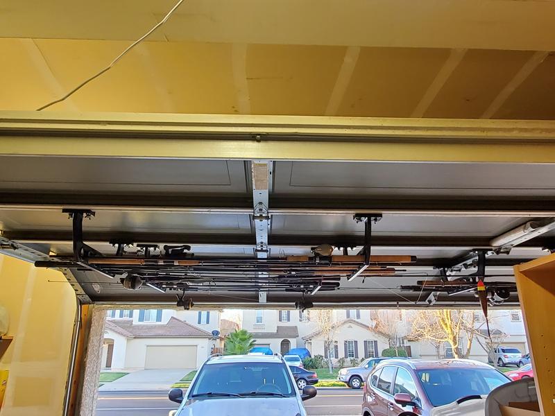 cobra garage door storage rack