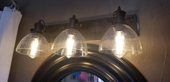 seeded glass bath light 3118 ba3 blk sd