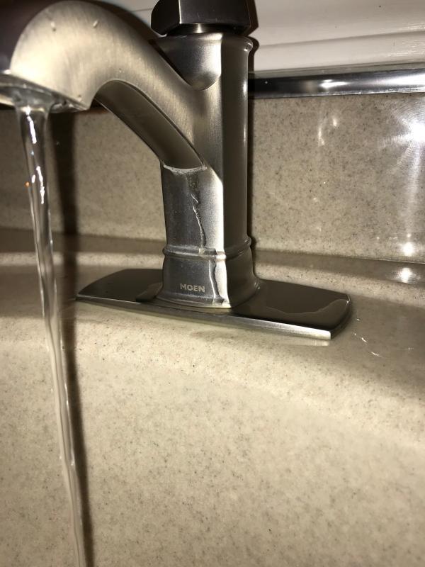 hensley mediterranean bronze microban one handle low arc bathroom faucet