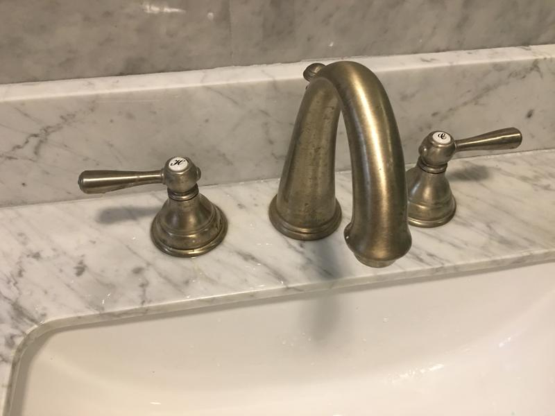 kingsley oil rubbed bronze two handle high arc bathroom faucet