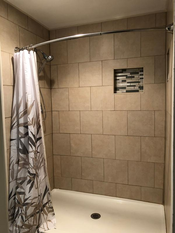 curved shower rod with magnetix chrome tension or permanent mount