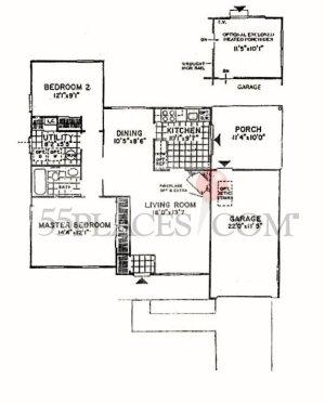 Bedford Floorplan   1120 Sq Ft   Crestwood Village 7   55places