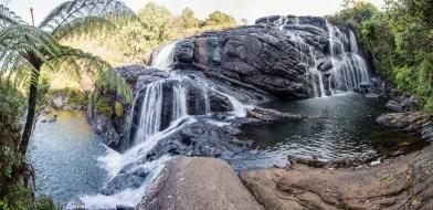 Wasserfall auf den Horton Plains