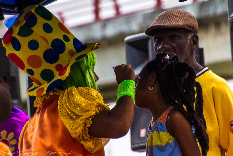 Face painting at 2013 Panama City Carnaval