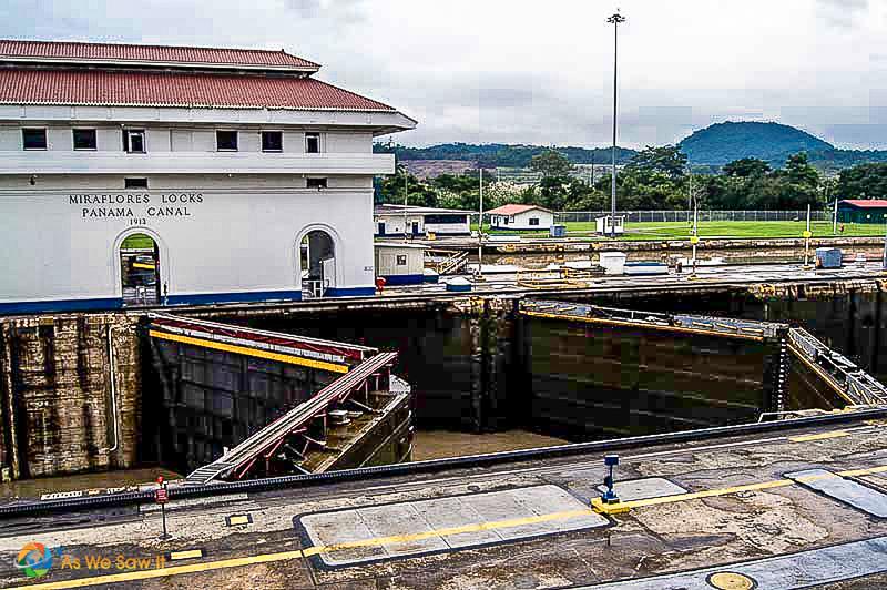 Control building at Miraflores Locks at the Panama Canal