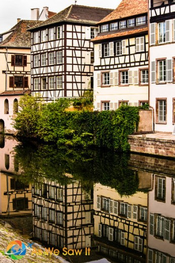 half timbered houses in Strasbourg