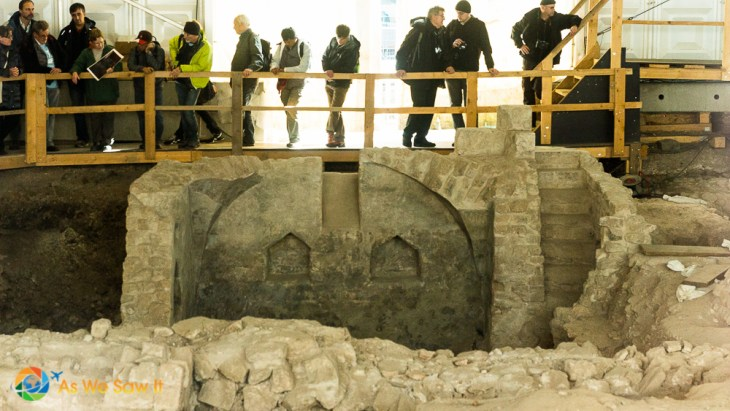 Archaeological excavations in Cologne Germany