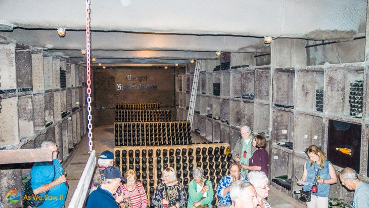 Viking passengers sample Mosel wine at Richard Richter winery.