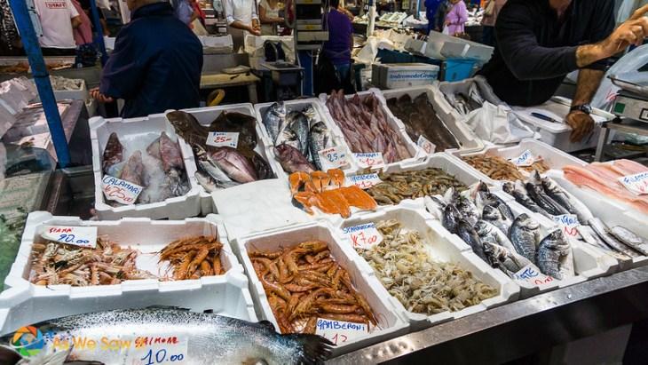 fishmongers in Civitavecchia