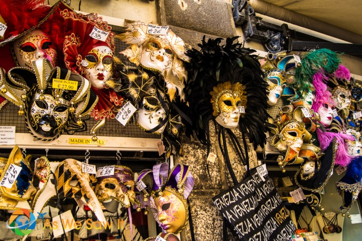 Colorful Venetian Carnival masks