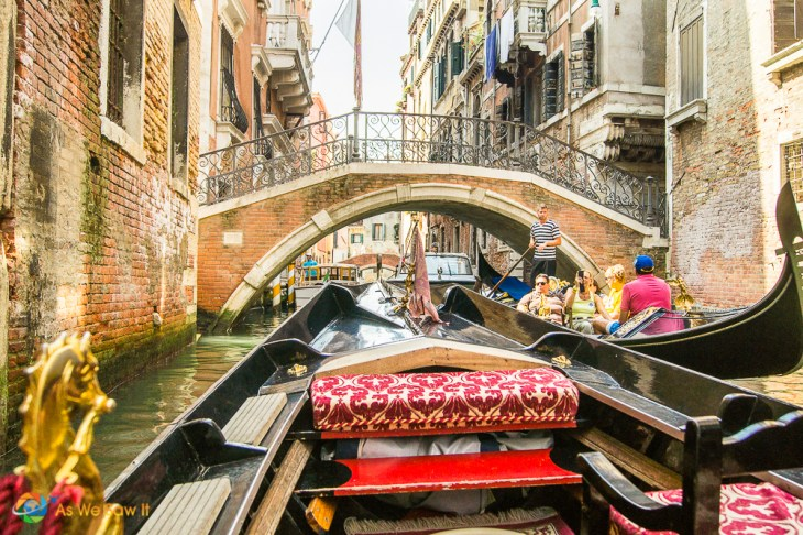 Aboard the Gondola in Venice