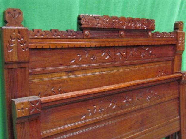 antique eastlake headboard/footboard