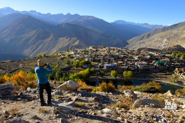 Capturing a photo of the beautiful Himalayan village of Nako