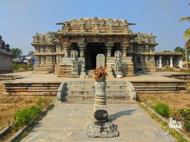 Entering Lakshmi Narasimha Temple at Javagal, Karnataka